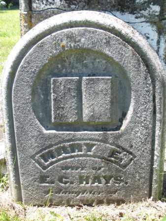 HAYS, MARY E. - Warren County, Ohio | MARY E. HAYS - Ohio Gravestone Photos