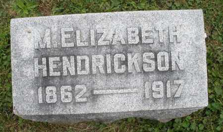 HENDRICKSON, M. ELIZABETH - Warren County, Ohio | M. ELIZABETH HENDRICKSON - Ohio Gravestone Photos