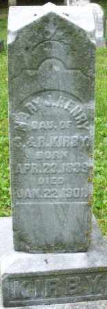 KIRBY HENRY, MARY J. - Warren County, Ohio   MARY J. KIRBY HENRY - Ohio Gravestone Photos
