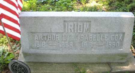 IRION, ARTHUR L. - Warren County, Ohio | ARTHUR L. IRION - Ohio Gravestone Photos