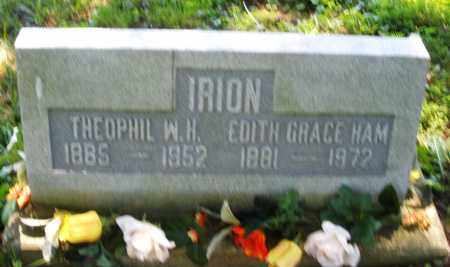 IRION, EDITH GRACE - Warren County, Ohio | EDITH GRACE IRION - Ohio Gravestone Photos