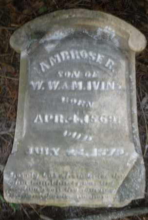 IVINS, AMBROSE B. - Warren County, Ohio   AMBROSE B. IVINS - Ohio Gravestone Photos