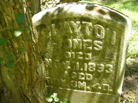 JONES, CLAYTON - Warren County, Ohio   CLAYTON JONES - Ohio Gravestone Photos