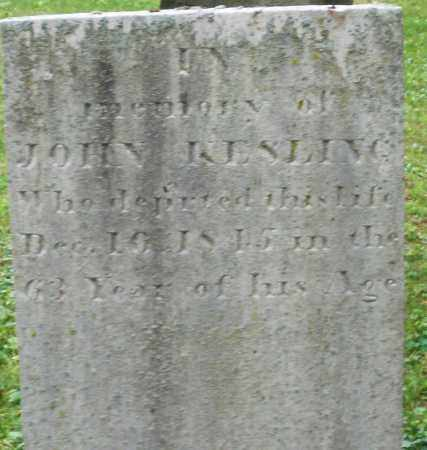 KESLING, JOHN - Warren County, Ohio   JOHN KESLING - Ohio Gravestone Photos