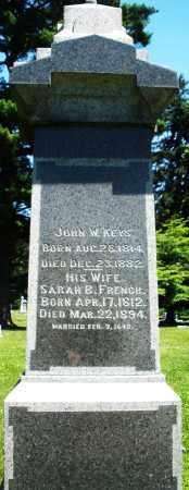 KEYS, JOHN W. - Warren County, Ohio | JOHN W. KEYS - Ohio Gravestone Photos