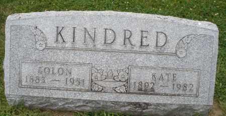 KINDRED, SOLON - Warren County, Ohio   SOLON KINDRED - Ohio Gravestone Photos