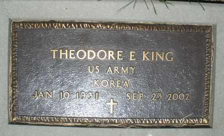 KING, THEODORE E. - Warren County, Ohio | THEODORE E. KING - Ohio Gravestone Photos
