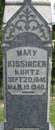 KURTZ, MARY - Warren County, Ohio | MARY KURTZ - Ohio Gravestone Photos