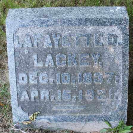 LACKEY, LAFAYETTE D. - Warren County, Ohio | LAFAYETTE D. LACKEY - Ohio Gravestone Photos