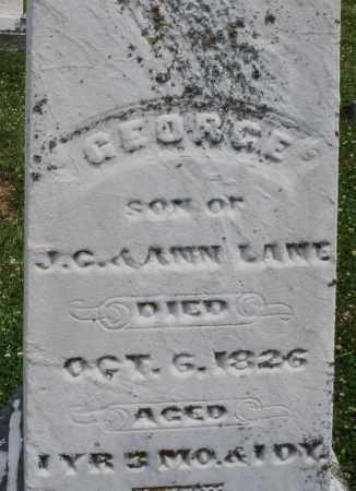 LANE, GEORGE - Warren County, Ohio | GEORGE LANE - Ohio Gravestone Photos
