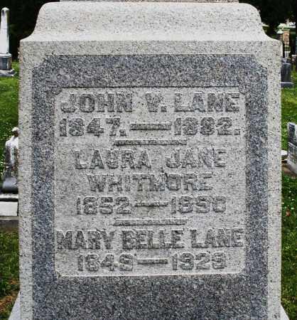 LANE, JOHN V. - Warren County, Ohio | JOHN V. LANE - Ohio Gravestone Photos