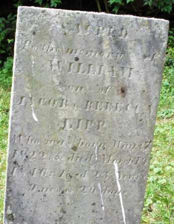 LIPP, WILLIAM - Warren County, Ohio   WILLIAM LIPP - Ohio Gravestone Photos
