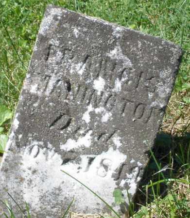 MANINGTON, FRANCIS - Warren County, Ohio   FRANCIS MANINGTON - Ohio Gravestone Photos