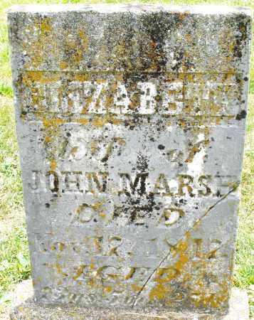 MARSH, ELIZABETH - Warren County, Ohio   ELIZABETH MARSH - Ohio Gravestone Photos