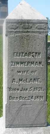 ZIMMERMAN MC LANE, ELIZABETH - Warren County, Ohio | ELIZABETH ZIMMERMAN MC LANE - Ohio Gravestone Photos