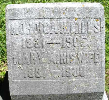 MILLS, MORDICAH - Warren County, Ohio | MORDICAH MILLS - Ohio Gravestone Photos