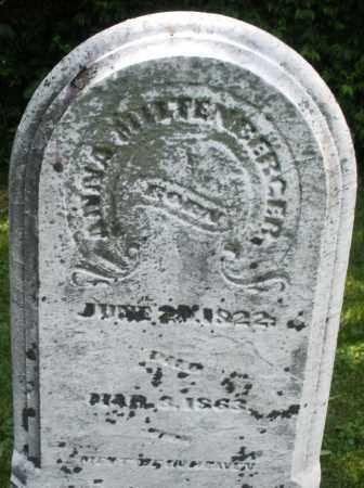 MILTENBERGER, ANNA - Warren County, Ohio | ANNA MILTENBERGER - Ohio Gravestone Photos