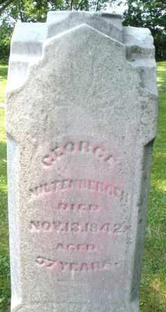 MILTENBERGER, GEORGE - Warren County, Ohio   GEORGE MILTENBERGER - Ohio Gravestone Photos