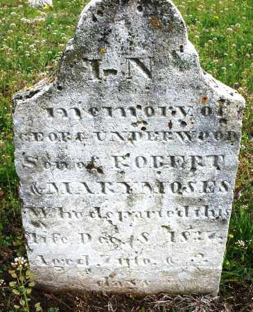 MOSES, GEORGE UNDERWOOD - Warren County, Ohio   GEORGE UNDERWOOD MOSES - Ohio Gravestone Photos