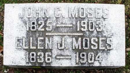 MOSES, ELLEN J - Warren County, Ohio | ELLEN J MOSES - Ohio Gravestone Photos