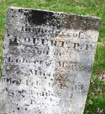 MOSES, ROBERT  P.F. - Warren County, Ohio | ROBERT  P.F. MOSES - Ohio Gravestone Photos