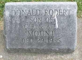 MOUNT, DONALD ROBERT - Warren County, Ohio   DONALD ROBERT MOUNT - Ohio Gravestone Photos