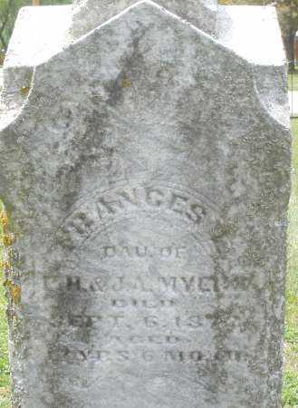 MYERS, FRANCES - Warren County, Ohio | FRANCES MYERS - Ohio Gravestone Photos