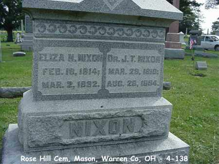NIXON, JOHNSON T - Warren County, Ohio | JOHNSON T NIXON - Ohio Gravestone Photos