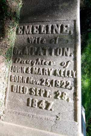 KELLY PATTON, EMELINE - Warren County, Ohio | EMELINE KELLY PATTON - Ohio Gravestone Photos