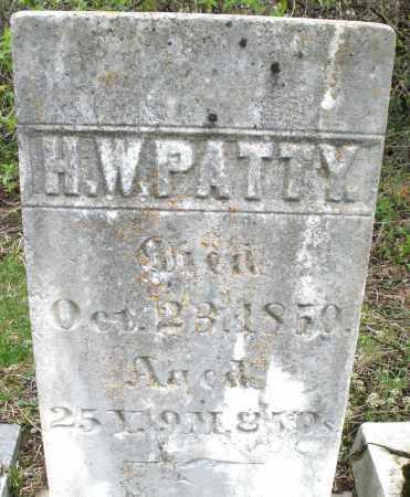 PATTY, H.W. - Warren County, Ohio | H.W. PATTY - Ohio Gravestone Photos