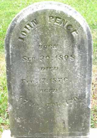 PENCE, JOHN - Warren County, Ohio | JOHN PENCE - Ohio Gravestone Photos