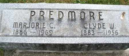 PREDMORE, CLYDE W. - Warren County, Ohio | CLYDE W. PREDMORE - Ohio Gravestone Photos