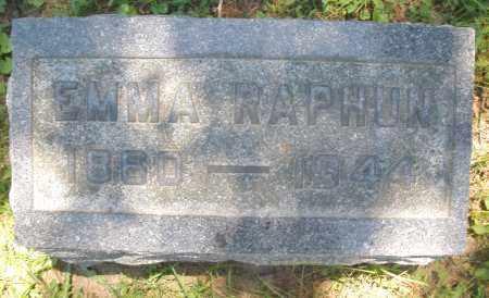 RAPHUN, EMMA - Warren County, Ohio | EMMA RAPHUN - Ohio Gravestone Photos