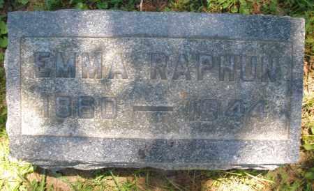 RAPHUN, EMMA - Warren County, Ohio   EMMA RAPHUN - Ohio Gravestone Photos