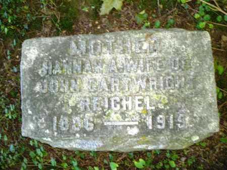 REICHEL, HANNAH - Warren County, Ohio   HANNAH REICHEL - Ohio Gravestone Photos