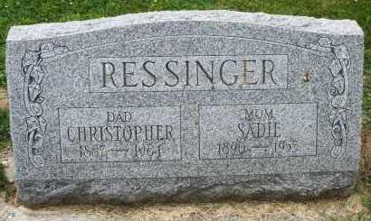 RESSINGER, CHRISTOPHER - Warren County, Ohio | CHRISTOPHER RESSINGER - Ohio Gravestone Photos