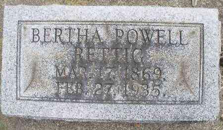 POWELL RETTIG, BERTHA - Warren County, Ohio | BERTHA POWELL RETTIG - Ohio Gravestone Photos