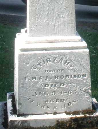 ROBISON, TIRZAH - Warren County, Ohio | TIRZAH ROBISON - Ohio Gravestone Photos