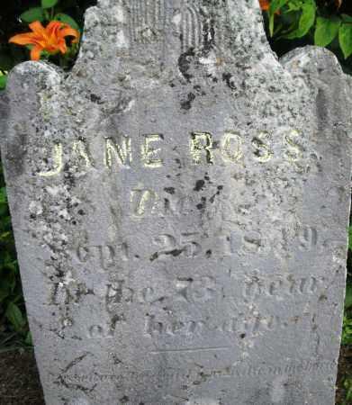 ROSS, JANE - Warren County, Ohio | JANE ROSS - Ohio Gravestone Photos