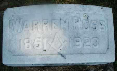 ROSS, WARREN - Warren County, Ohio   WARREN ROSS - Ohio Gravestone Photos
