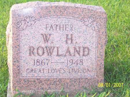 ROWLAND, WILLIAM HENRY - Warren County, Ohio | WILLIAM HENRY ROWLAND - Ohio Gravestone Photos
