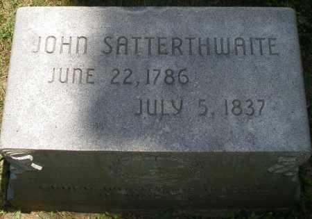 SATTERTHWAITE, JOHN - Warren County, Ohio | JOHN SATTERTHWAITE - Ohio Gravestone Photos