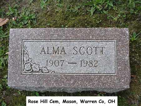 SCOTT, ALMA - Warren County, Ohio | ALMA SCOTT - Ohio Gravestone Photos