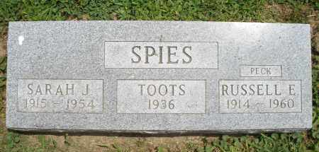 SPIES, SARAH  J. - Warren County, Ohio | SARAH  J. SPIES - Ohio Gravestone Photos