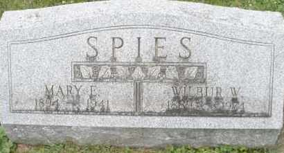 SPIES, MARY E. - Warren County, Ohio | MARY E. SPIES - Ohio Gravestone Photos