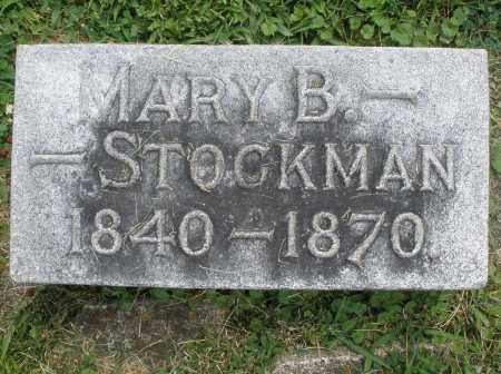 STOCKMAN, MARY B. - Warren County, Ohio   MARY B. STOCKMAN - Ohio Gravestone Photos