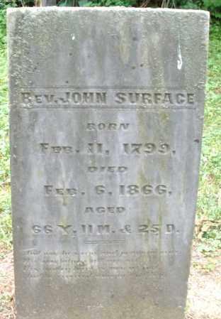 SURFACE, JOHN REV. - Warren County, Ohio   JOHN REV. SURFACE - Ohio Gravestone Photos