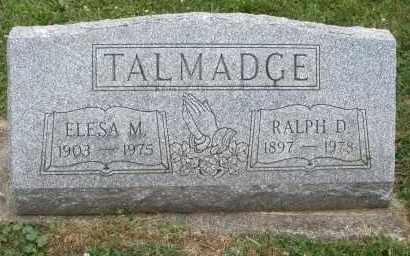TALMADGE, ELESA M. - Warren County, Ohio   ELESA M. TALMADGE - Ohio Gravestone Photos
