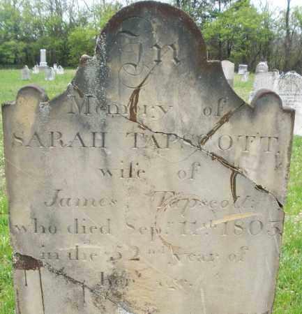 TAPSCOTT, SARAH - Warren County, Ohio | SARAH TAPSCOTT - Ohio Gravestone Photos