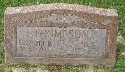 THOMPSON, FELIX - Warren County, Ohio | FELIX THOMPSON - Ohio Gravestone Photos